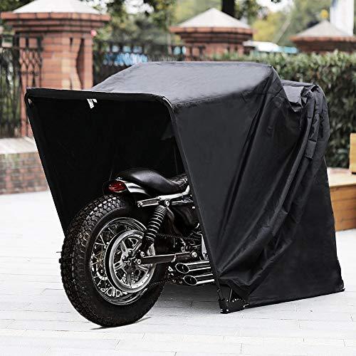JTYX Cubierta de cobertizo para Refugio de Motocicleta Grande y Resistente Carpa de Almacenamiento para Motocicletas Almacenamiento Seguro y Seguro para Refugio de Bicicletas Superior