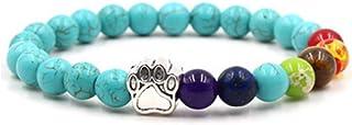 mxdmai 8 millimetri della tigre dell'occhio braccialetto pietra perline multicolore braccialetto elastico di pietra natura...