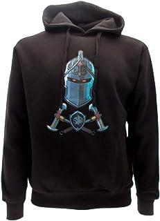 Fortnite Epic Games - Sudadera con capucha negra con caballero negro oficial