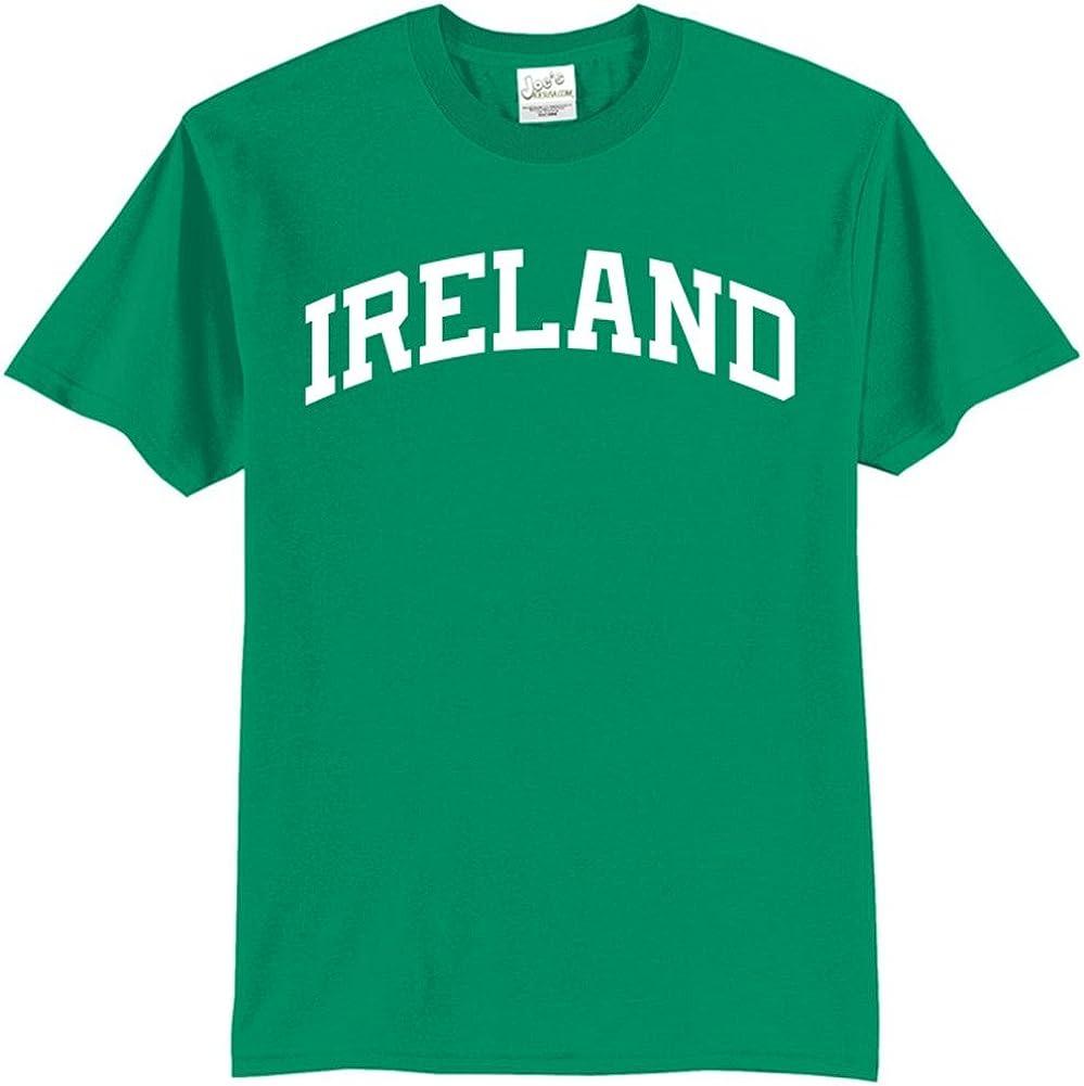 Joe's USA(tm - Tall Ireland Logo on Green T-Shirts in Size X-Large Tall -XLT
