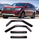 Deebior 4pcs In-Channel Style Sun Rain Guard Vent Shade Side Window Visors Wind Deflectors Compatible With 1997-2017 Expedition 1998-2017 Lincoln Navigator