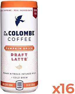 La Colombe Pumpkin Spice Draft Latte - 9 Fluid Ounce, 16 Count - Cold-Pressed Espresso and Frothed Milk + Real Pumpkin - Made With Real Ingredients - Grab And Go Coffee
