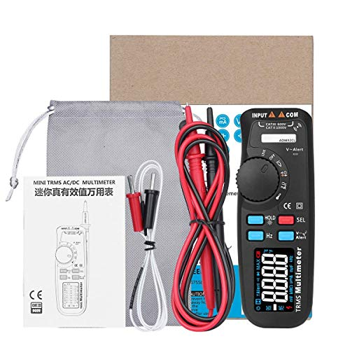 ZGQA-GQA Multímetro digital multifunción ADM92CL Pantalla LCD multímetro auto de la gama de verdadero valor eficaz de temperatura Tester y voltímetro Ampermetre