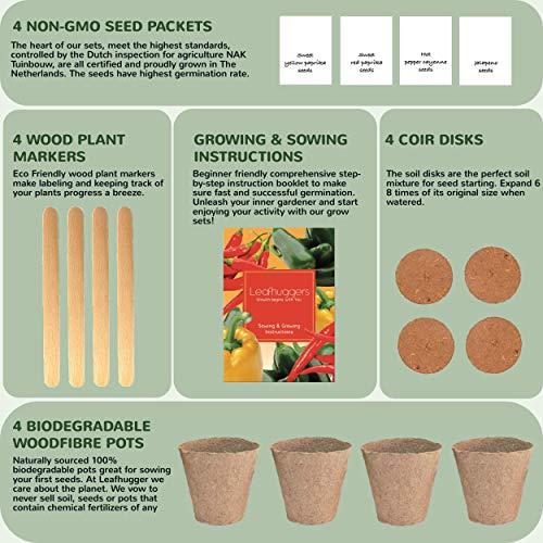 Kit Cultivo Pimientos Set De Cultivo Interior Con Semillas ...