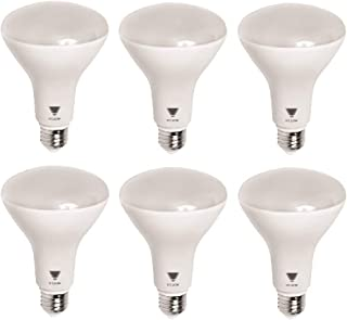 TriGlow T99014-6 (6-Pack) LED 11-Watt (65W Equivalent) BR30 Light Bulb, 800 Lumen, DIMMABLE 3500K (Deco White Color) E26 Base, UL Listed LED Light Bulb