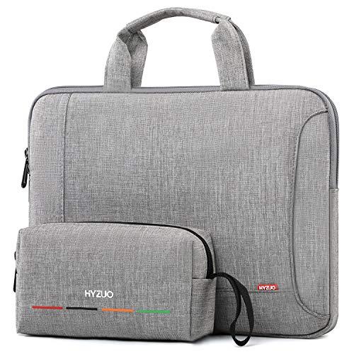 HYZUO 14 Zoll Laptop Hülle Tasche Handtasche Laptoptasche Kompatibel mit Lenovo IdeaPad 3 14/HP Pavilion 14/HP EliteBook 14/Acer Swift 3 14/HP Stream 14/Asus VivoBook 14/Dell Latitude 13 3000,Hellgrau
