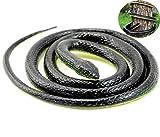 Liuer 130cm Réaliste Fake Serpent de Simulation en Caoutchouc,Serpent...
