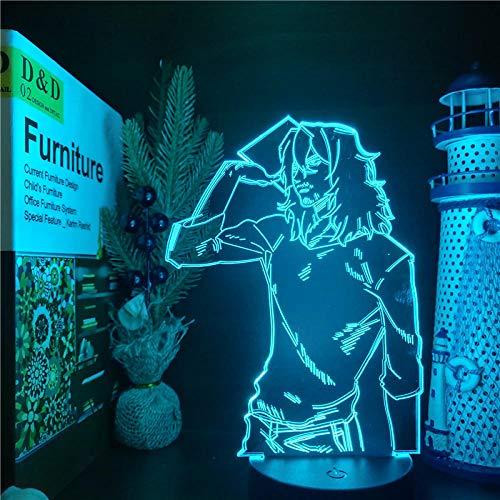 MEIN HELD ACADEMIA Boku no Hero Academia führte ANIME LAMP Shota Aizawa Farbwechselnde Nachtlichter für die Schlafzimmerdekoration-Black Base keine Fernbedienung