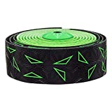 SUPACAZ - Cinta adhesiva para manillar de bicicleta, color verde neón