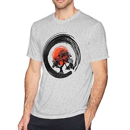AYYUCY Camisetas y Tops Hombre Polos y Camisas Bonsai Tree Japanese Men