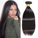 Brazilian Straight Hair, 8A Unprocessed Straight Human Hair 1 Bundle, Virgin Hair Straight Single Bundle(100g), Natural Color (10')