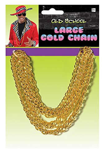 Large Gold CHain Necklace for Mr. T Costume