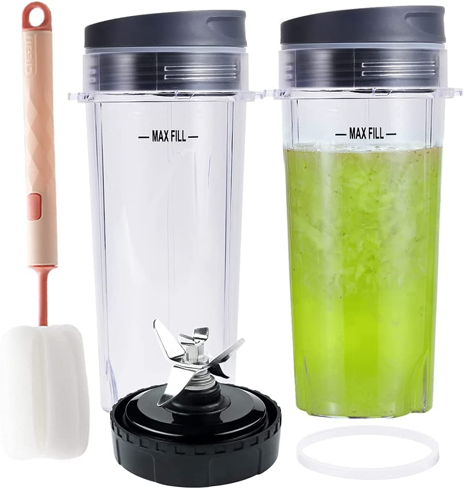 Replacement Parts Dedication 16oz Blender Cups 6Fin Nutri Set for N Super special price Blade