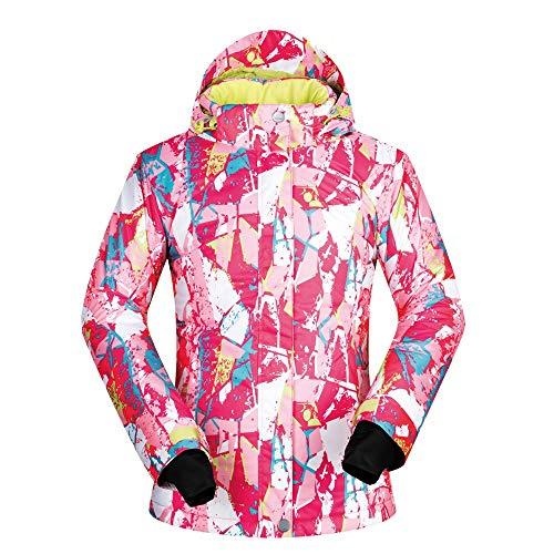 Verstelbare Fit Jas Comfortabele Waterdichte Ademende Outdoor Warm Snowboard Ski Jas Roze Voor Vrouw