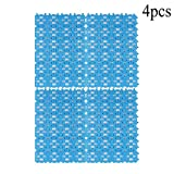 Rabbit Cage Mat Floor Plastic Mats Feet Pads for Pet Cats Dogs Bunny Hamster Rat Chinchilla Guinea Pig (4 Pack)