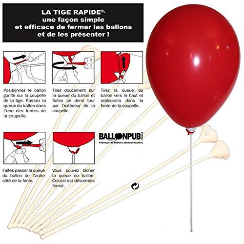 10 Tiges rapides à fixer des ballons de baudruche