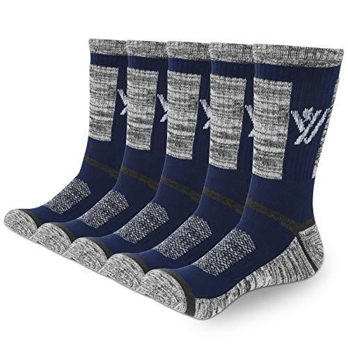 YUEVO SPORTS Men's Athletic Socks Breathable Wicking Cotton Cushion Crew...