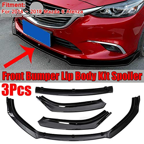 BAISHENG 3 stücke Carbon Look Auto Frontstoßstange Splitter Lip Diffusor Spoiler Abdeckung Trim, Für Mazda 6 Atenza 2014 2015 2016 2017 2018