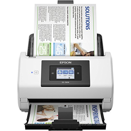 Save %21 Now! Epson DS-780N Network Color Document Scanner for PC and Mac, 100-page Auto Document Feeder (ADF), Duplex Scanning