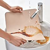MORROLS Tischsets Abwaschbar, Tischset Leder 6er Set Abwischbar Lederoptik Kunstleder Wasserdicht PVC Platzset, Platzdeckchen für Küche Speisetisch, 42x30cm - 5