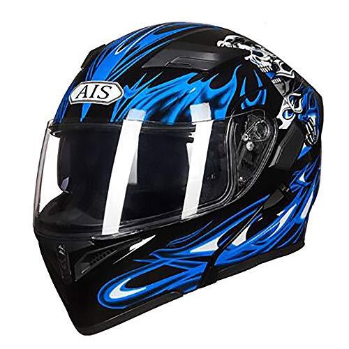 Stella Fella Cascos para hombre con patrón de llama azul para adultos, casco de bicicleta de montaña, casco de montar al aire libre (tamaño: XXXL)