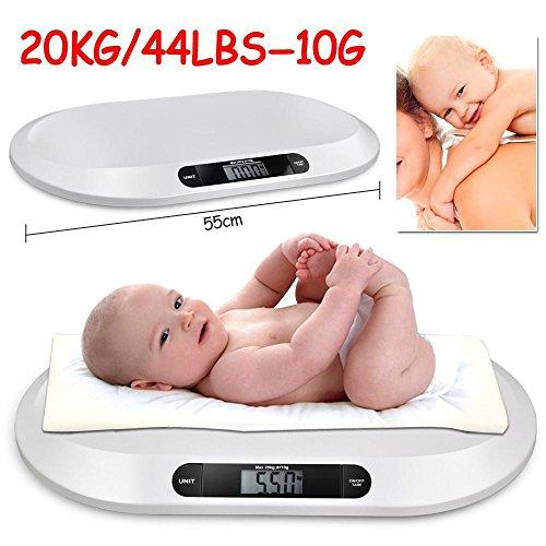tinkertonk Babywaage, rutschfest, digital, elektronisch, präzise, handlich, auch für Haustiere geeignet, max. Belastung 20kg, Genauigkeit 10g