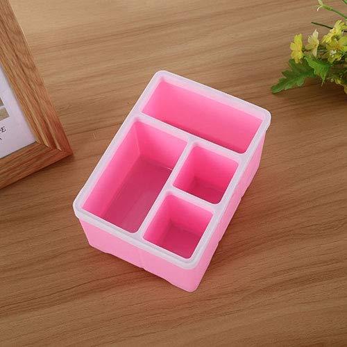 QICHENGBIN Mini Coffret à Bijoux PC de Bureau Fournitures Distants Boîte de Rangement for Bureau Fournitures de Bureau Taille: 18,2 * 13 * 9,6 cm (Color : Pink)