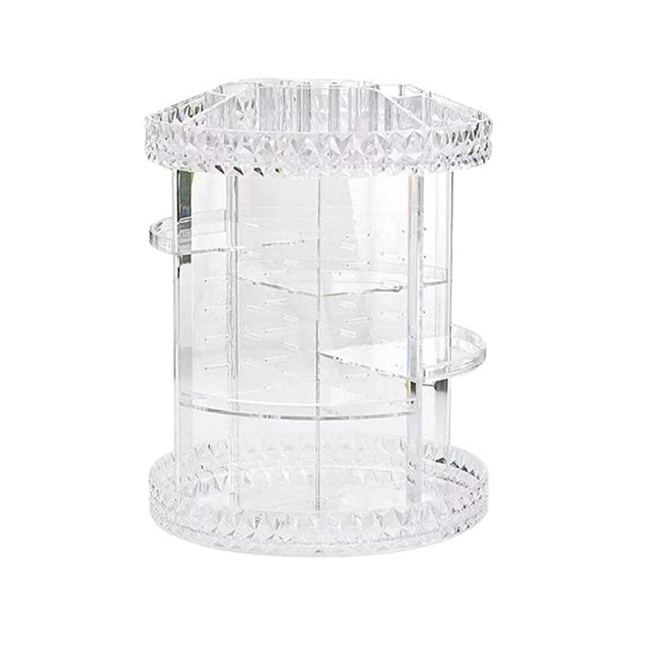 踏み台スリチンモイペチコートXlp 日常使用のための多層の回転アクリルの透明な化粧品の収納箱
