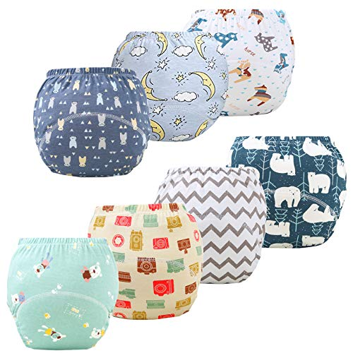 JackLoveBriefs Baby Kleinkind Töpfchen Unterwäsche Töpfchen Trainingshose (1 bis 6 Jahre, 7 Stück, Farbe: B2, Size M (2-3 Jahr)
