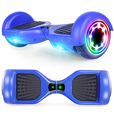 CBD Hoverboard for Kids, 6.5 Inch Two Wheel Hoverboard, Self Balancing Electric Scooter with LED Lights, UL2272 Certified (X-Blue)