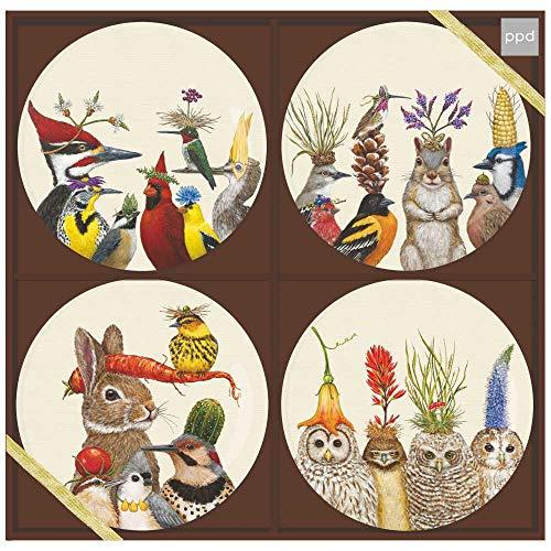 Paperproducts Design Forest Festivities Appetizer Plate Set, 7', Multicolor