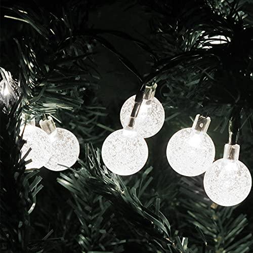 ADDSFGH 23 Feet 50LED Outdoor Solar String Light, Garden, Party, Festival, Decoration Light,White light