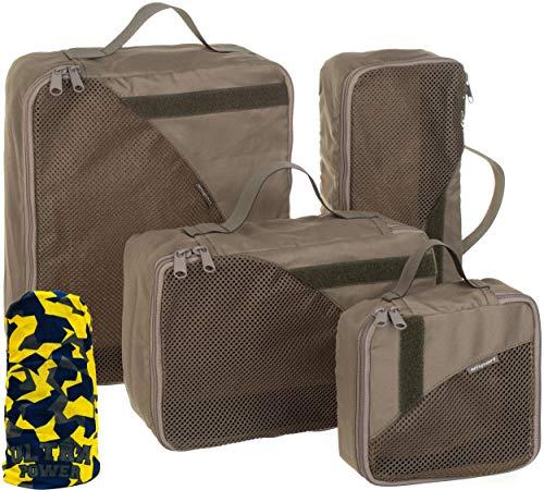 Wisport Koffertaschen Organizer | Koffertasche Set Damen & Herren | Packtaschen für Rucksack | Packbeutel Reise | Koffer | Reisen | Flug | Kofferorganizer |...