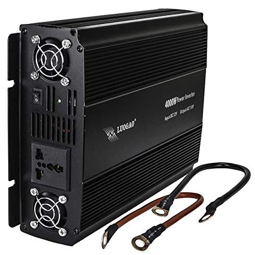 Inversor de Tensão 4000w inversor de energia 12v 110v transformador conversor de tensão onda modificada