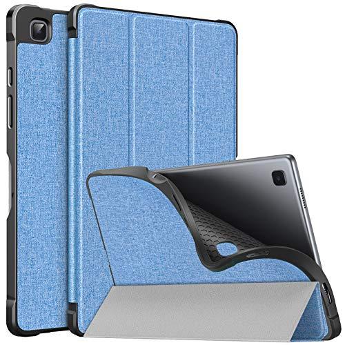 MoKo Funda Compatible con Samsung Galaxy Tab A7 10.4 Inch 2020 (SM-T500/505/507), Cubierta de PU y Carcasa Trasera de TPU a Prueba de Golpes, Triple Soorte Funda con Auto Activación/Reposo, Azul Claro