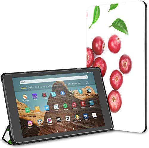 Estuche para Tableta Cranberry Fire HD 10 de Moda de Color Rojo Brillante(novena/séptima generación,versión 2019/2017) Estuche para Tableta Fire 10 HD Fire Estuche para Tableta Auto Wake/Sleep