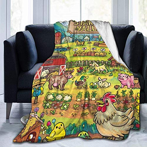 Stardew Valley Blankets Map Throws Game Soft Lightweight Flannel Fuzzy Plush All Season for Adults Kids The Child Twin Full Size Sofa Bed Living Room Couch Travel Camping