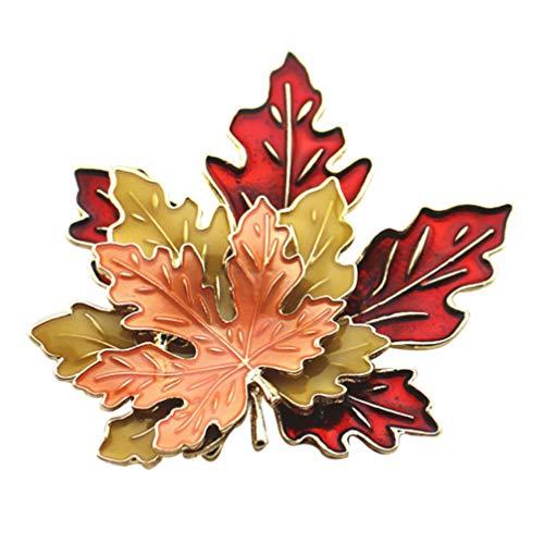 Amosfun Thanksgiving Brosche Pin Herbst Blätter Emaille Pin für Thanksgiving Party Männer Frauen Kleidung Herbst Urlaub Geschenk Schmuck (Größe 2)