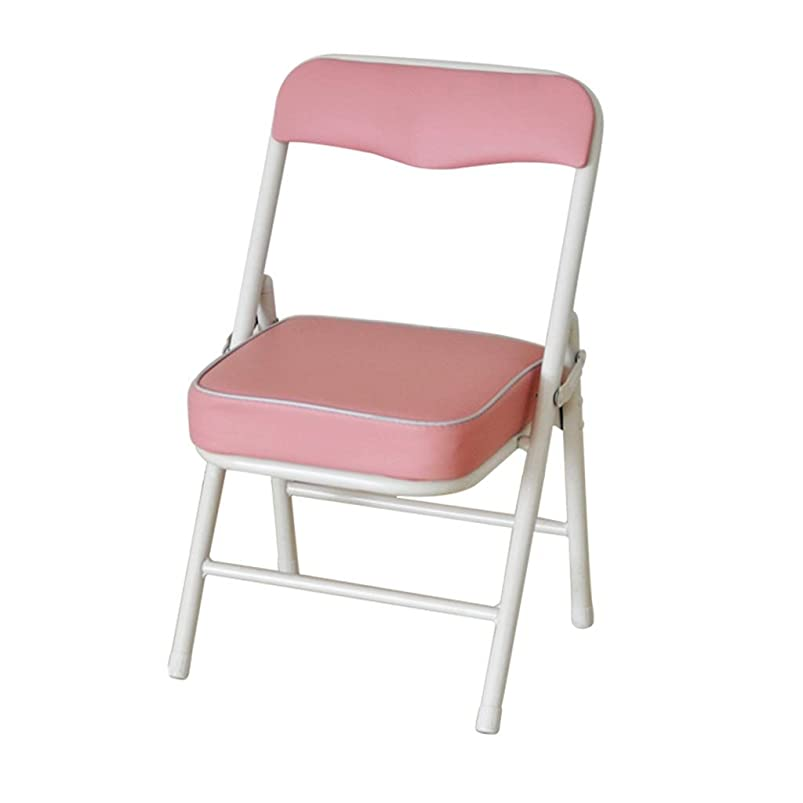 Garden Folding Chair, Playground Outdoor Small Stool Sponge Stool Metal Bracket Folding Chair Child Adult Portable Small Chair Height 53CM (Color : Pink) zkdznols692629