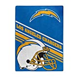 The Northwest Company NFL Los Angeles Chargers Slant Silk Touch Throw Blanket, 60' x 80'