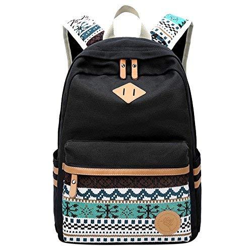 laamei Mochilas Escolares Juveniles Impresión Moderna Mochila Escolar Infantiles Lona Bolsa Casual Backpack Laptop Mochila de Viaje para Adolescentes