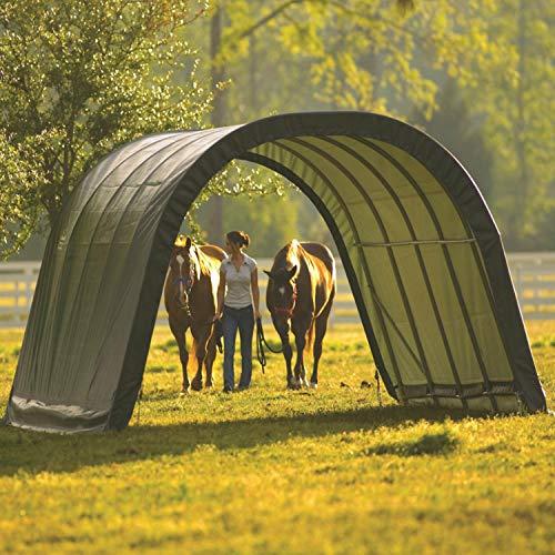 und Pferdestall/überdachung ohne Stahlgestell; 370x370x160 cm ShelterLogic Weidezelt