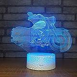 Solo 1 pieza 3d lámpara de escritorio creativa de 7 colores USB control remoto táctil multifuncional noche lámpara de escritorio LED en la sala de estar