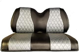GCGC Club Car Precedent Front & Rear Seat Covers - Unique Pattern | Carbon & Black |