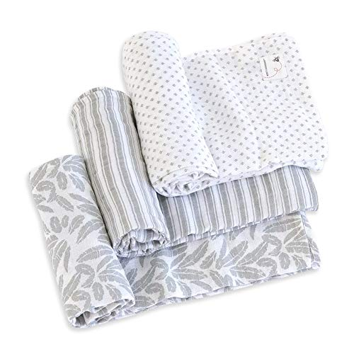 Burt's Bees Baby - HM25785 - Swaddles, Muslin Cotton Baby Blankets, 3-Pack, Multipurpose Lightweight & Breathable 100% Organic Cotton (Dottie Bee)