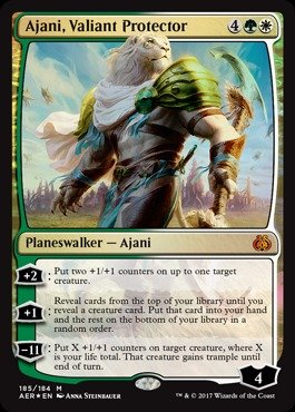Magic The Gathering - Ajani, Valiant Protector (185/184) - Planeswalker Deck Exclusives - Foil