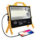 Portable Rechargeable LED Work Light,PowerBank 16000mah,Solar Light 220 Hight Brightness LEDs 6000 lumens,Five Lighting Modes,for Outdoor Camping Light,Emergency Lights for Home Power Failure.