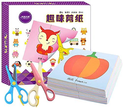 Berry President Juego de actividades de corte de papel con tijeras, tijeras para niños, tijeras de bricolaje para niños y niñas en el jardín de infancia