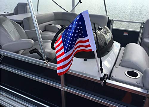 Caddie Buddy American Flag Clamping Mount for Boats (American Flag)