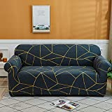 WXQY Funda de sofá elástica Funda de sofá elástica seccional de Spandex Funda de sofá de Esquina elástica en Forma de L Funda de sofá Antideslizante A2 1 Plaza